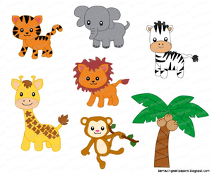 Free clipart of jungle animals. Cartoon images at clker