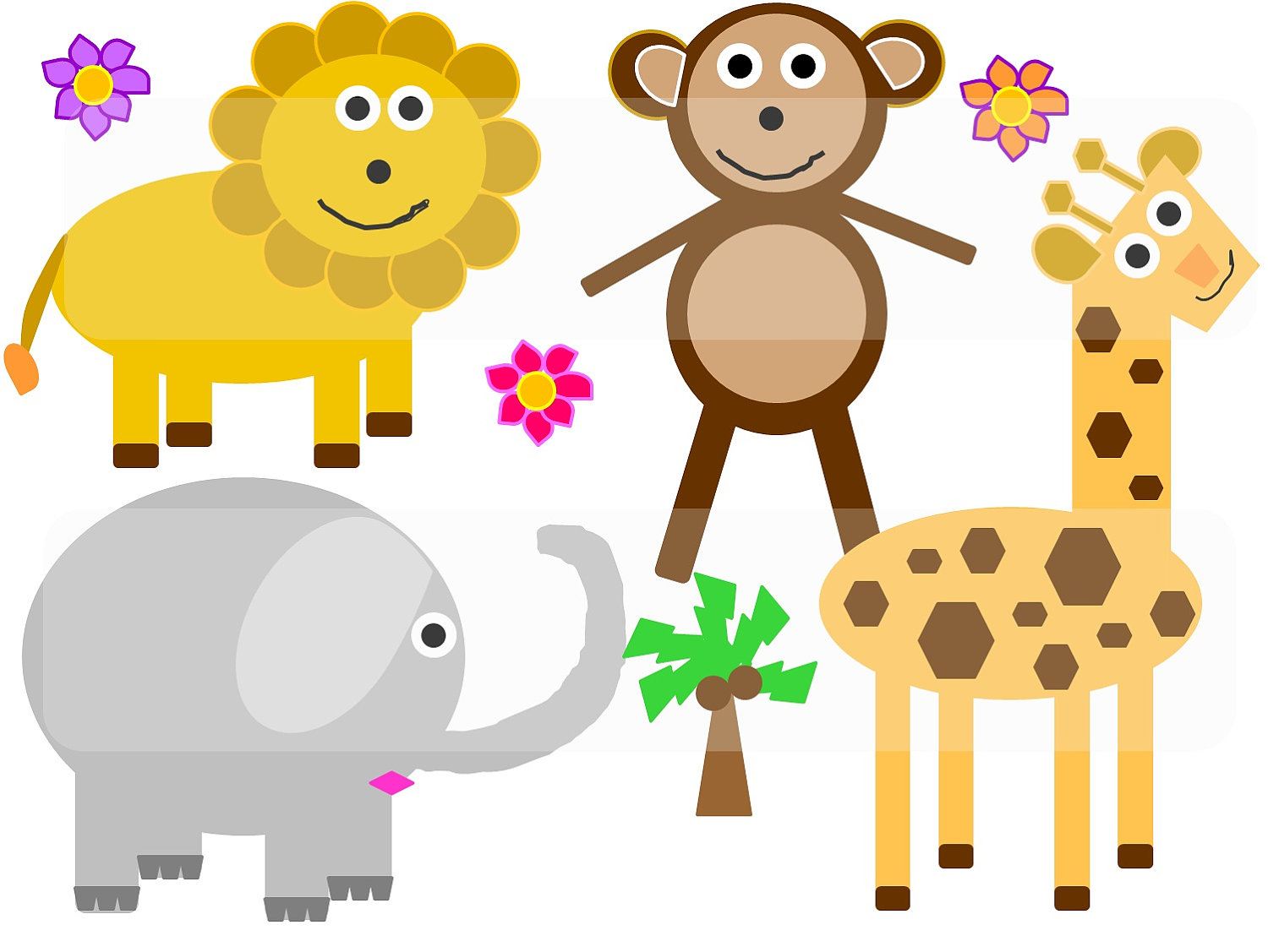 Cartoon jungle animal clipart jpg free download Cartoon Jungle Animal Pictures - Free Clipart jpg free download