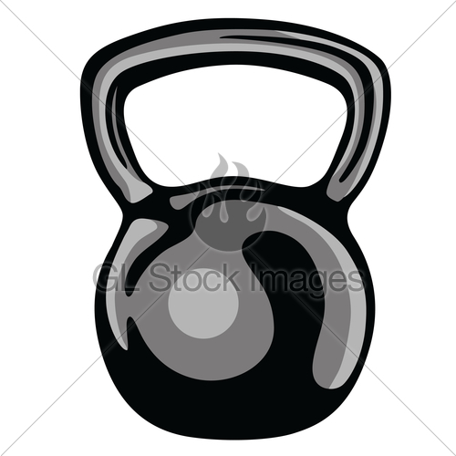 Cartoon kettlebell clipart jpg stock Kettlebell Fitness Equipment Clipart · GL Stock Images jpg stock