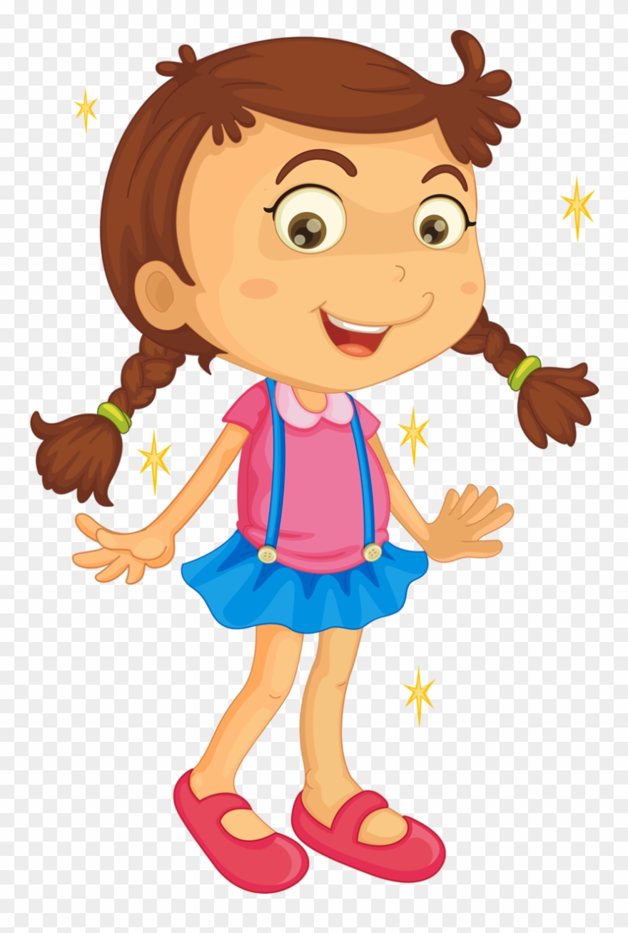 Gal clipart svg library download Girl Clipart Rugby - Cartoon Kids Girls - Png Download (#189650 ... svg library download