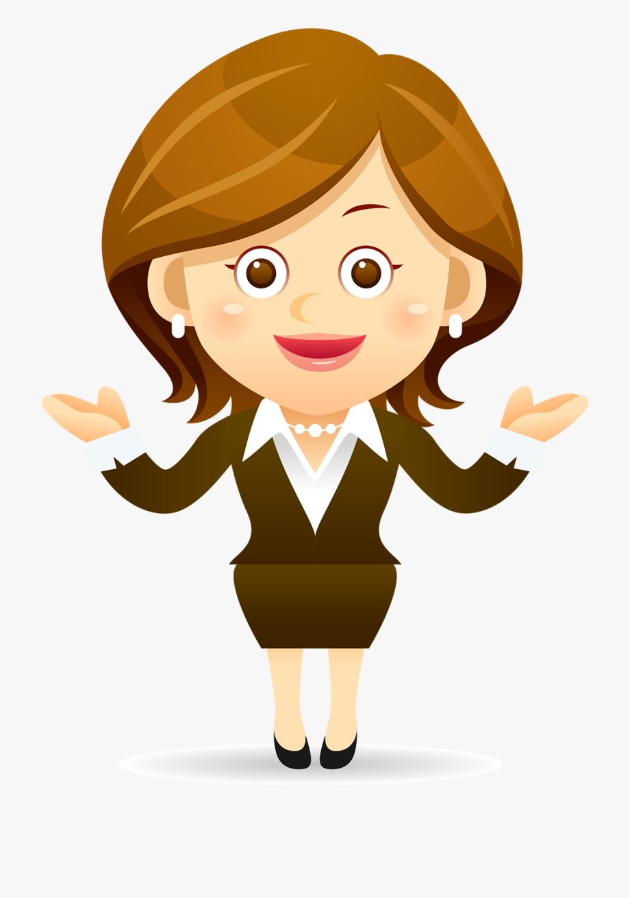 Cartoon lady clipart clipart transparent Cartoon Female Clip Art - Teacher Using Technology Clipart ... clipart transparent