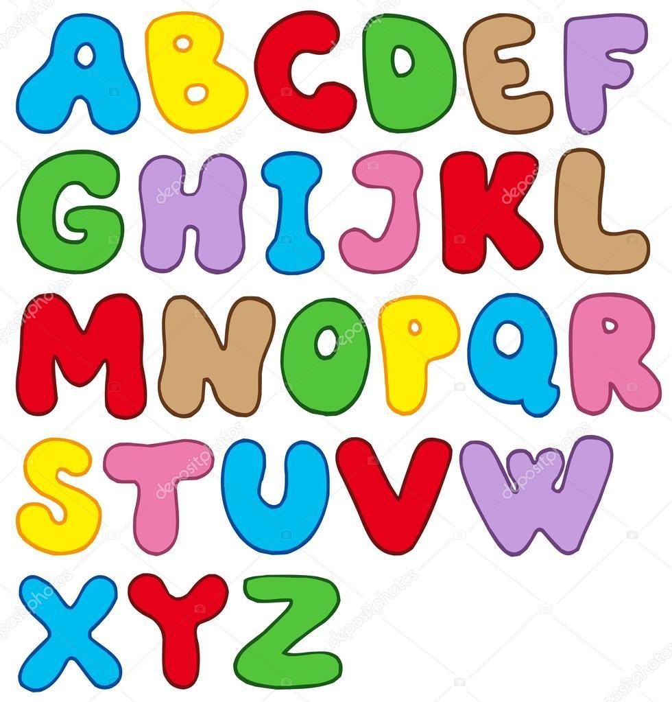 Cartoon letters clip art graphic transparent stock Cartoon alphabet — Stock Vector © clairev #2147768 graphic transparent stock