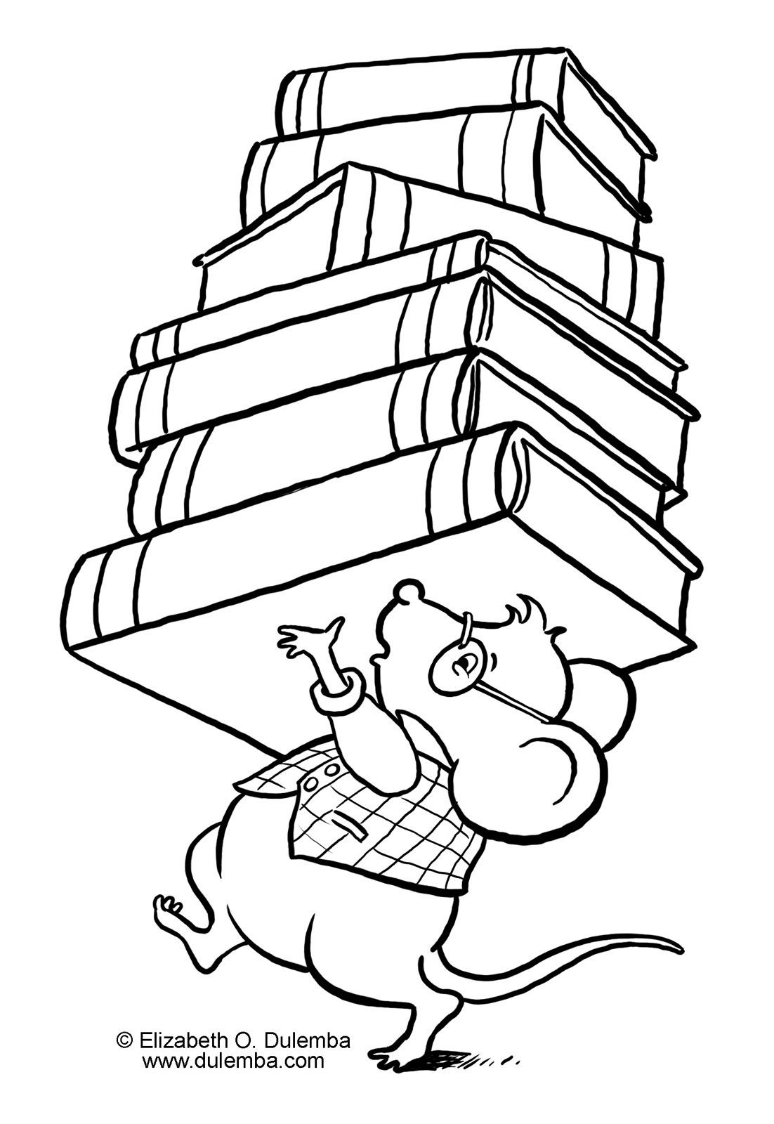 Cartoon librarian puting books up clipart black and white vector free Library Coloring Pages For Kids | more pages to color | Coloring ... vector free