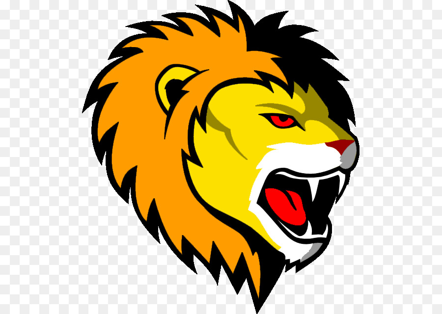 Cartoon lion head roaring facing the right clipart graphic transparent download Lion Cartoon png download - 565*640 - Free Transparent Lionhead ... graphic transparent download