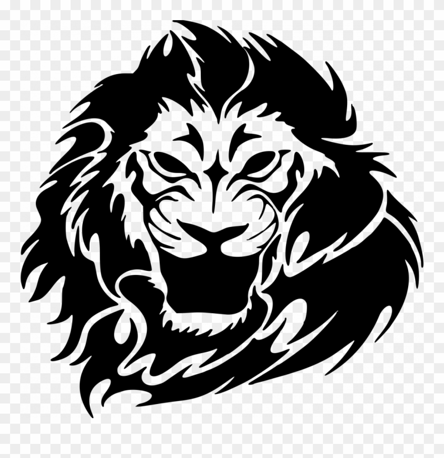 How To Draw A Lion Face Roaring Easy Realistic Clipart (#2330942 ... banner free