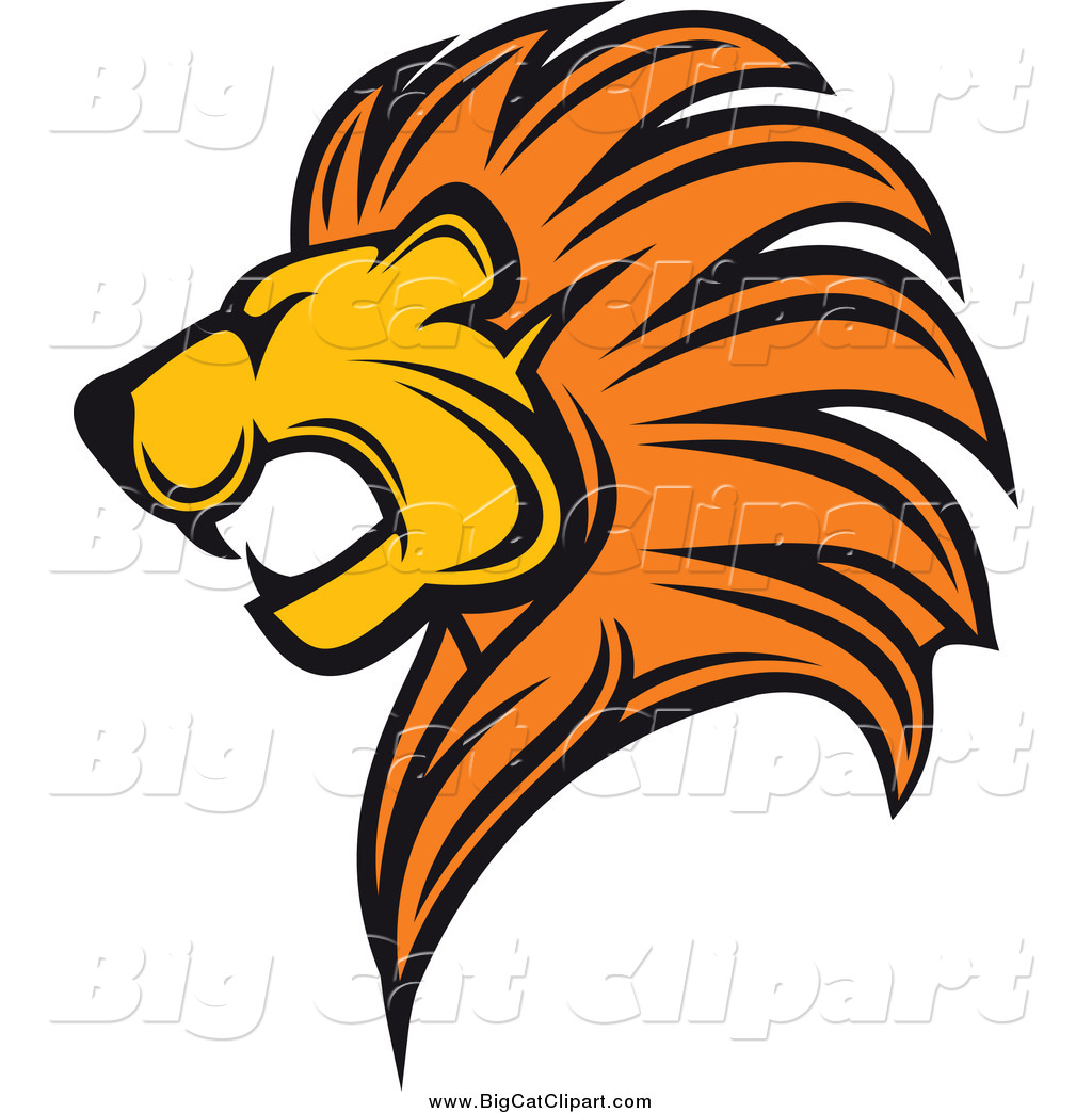 Cartoon lion head roaring facing the right clipart image library download Lion Head Silhouette Png (+) - Free Download | fourjay.org image library download