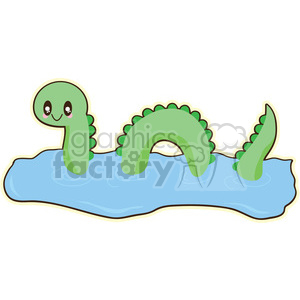 Cartoon loch ness monster clipart clipart library download Loch Ness cartoon character illustration clipart. Royalty-free clipart #  394160 clipart library download