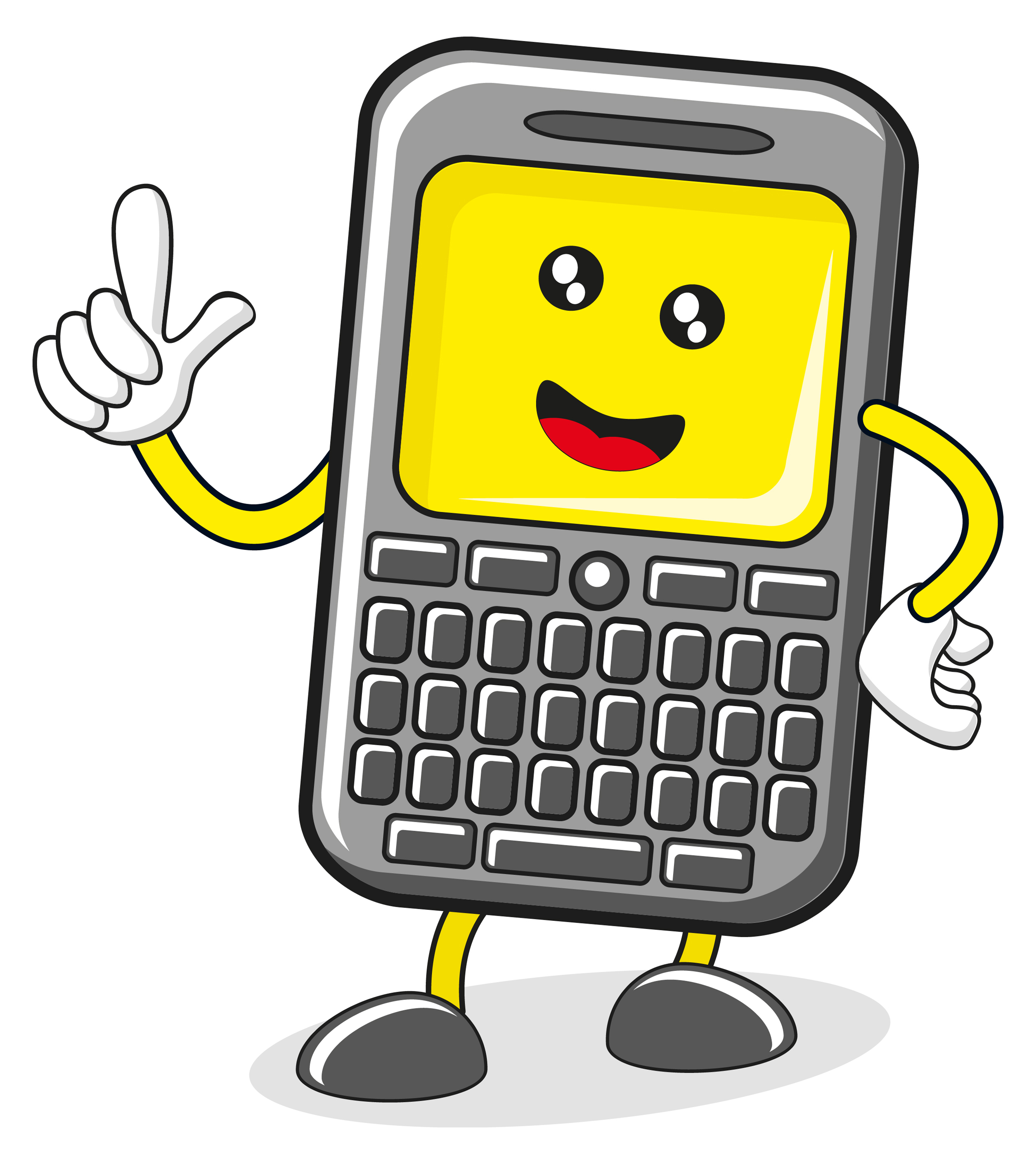 Cartoon mobile phone clipart vector royalty free download Cartoon Pictures Of Cell Phones | Free download best Cartoon ... vector royalty free download