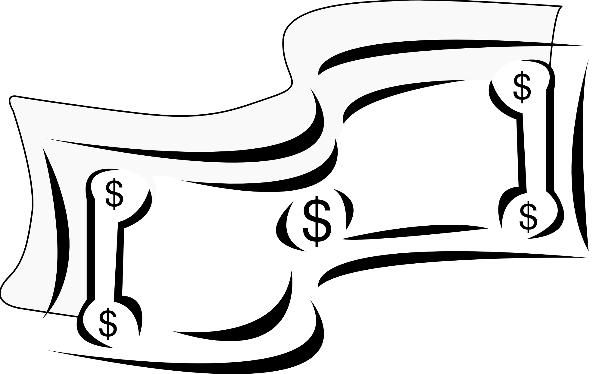 Hand with money in it clipart jpg Money Bills Clipart Black And White | Clipart Panda - Free Clipart ... jpg