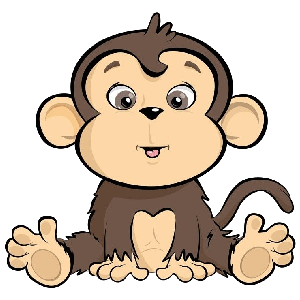 Cartoon monkey clipart picture black and white stock Monkey Clipart Of Cartoon Monkeys Free Transparent Png - AZPng picture black and white stock