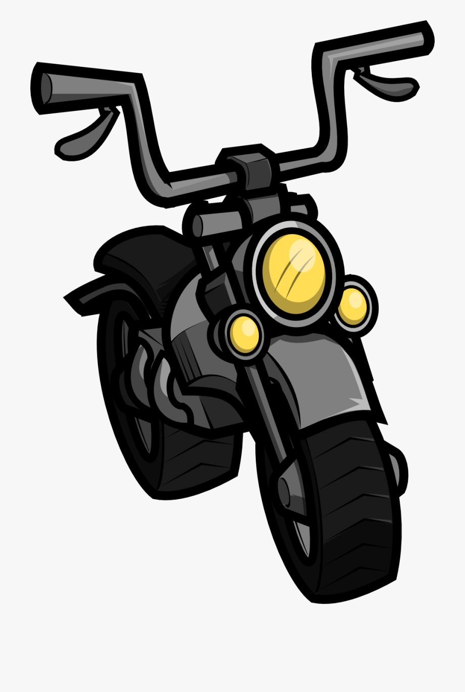 Download - Clipart Motorcycle Cartoon , Transparent Cartoon, Free ... black and white download