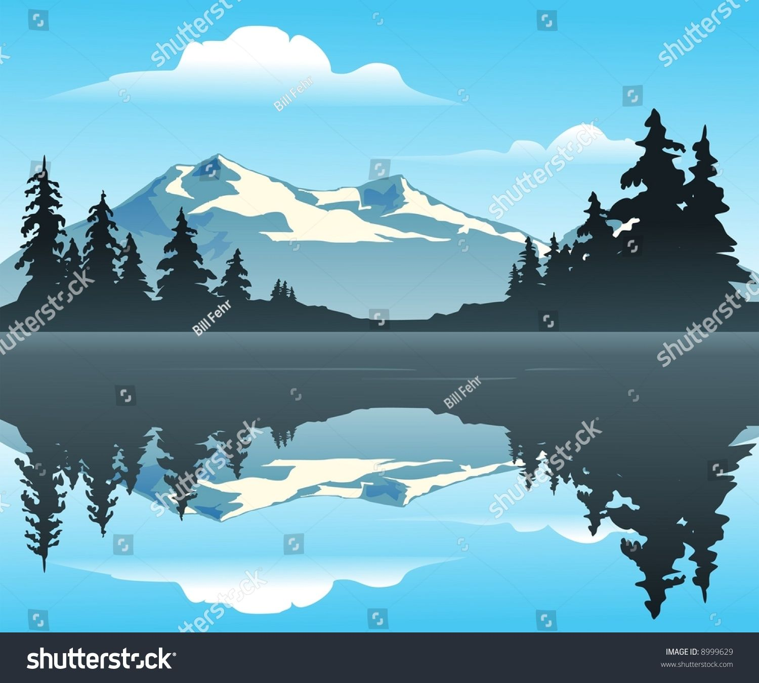 Yellowstone mountain clipart silhouette image Lake Mountain Silhouette Clip Art | Mountain Lake Outdoor Scene ... image