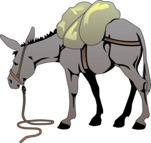 Cartoon mule clipart royalty free download Cartoon Mule | Donkey With A Load clip art - vector clip art online ... royalty free download