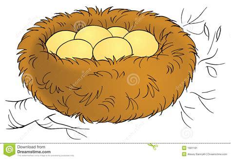 Cartoon nest clipart vector Cartoon Nest - Pillow vector