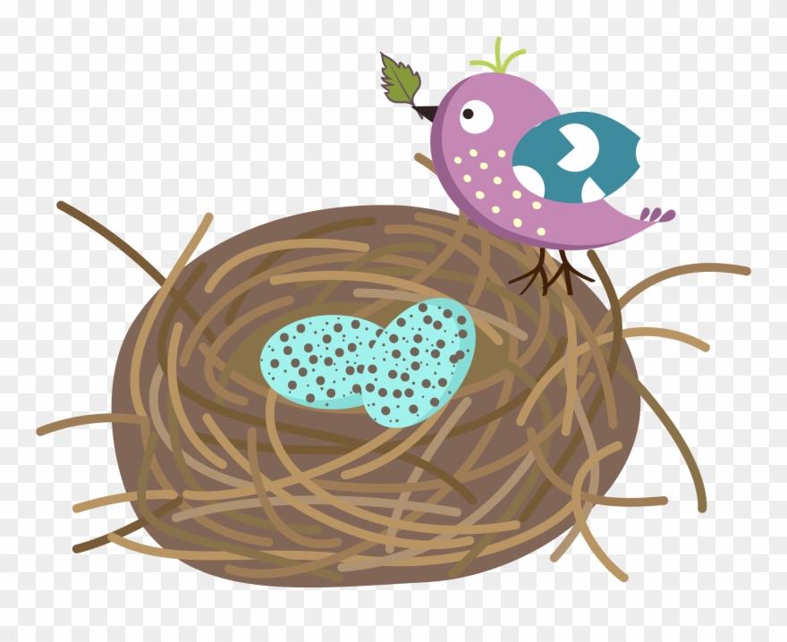 Cartoon nest clipart jpg freeuse Banner Black And White Download Bird Nest Clipart - Nest Vector Free ... jpg freeuse