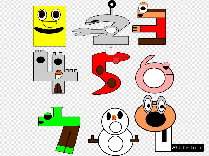 Cartoon numbers clipart graphic black and white download Cartoon Numbers Clip art, Icon and SVG - SVG Clipart graphic black and white download
