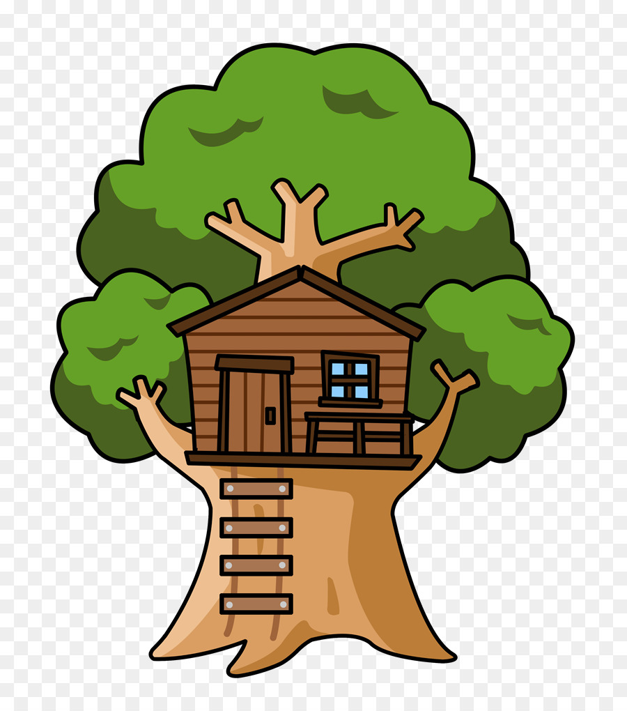 Cartoon oak tree clipart image black and white download Oak Tree png download - 800*1008 - Free Transparent Tree House png ... image black and white download