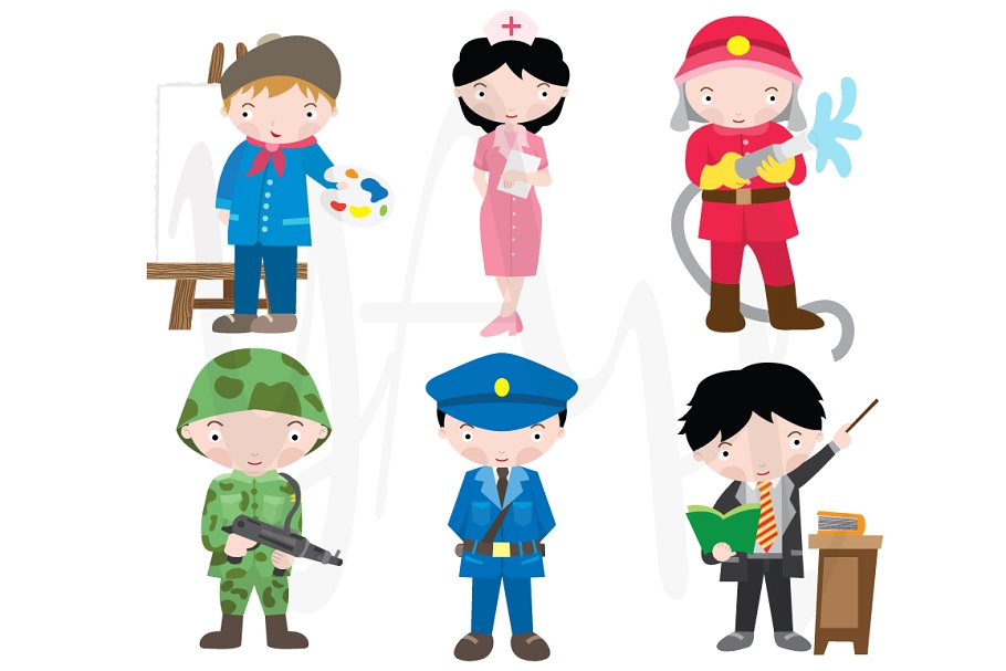 Cartoon occupations clipart clip art royalty free download Occupations Clip Art clip art royalty free download