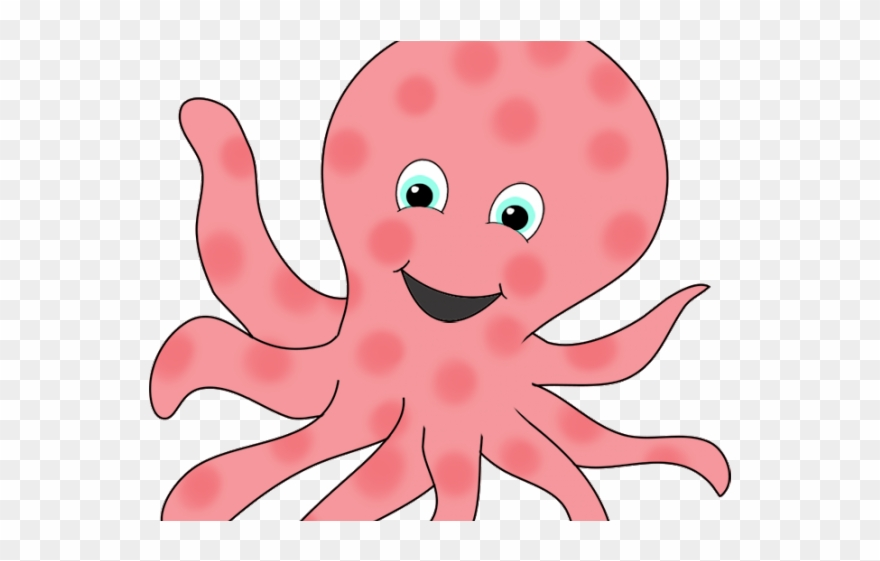 Cartoon octopus clipart clipart royalty free stock Octopus Clipart Girly - Transparent Background Octopus Clipart - Png ... clipart royalty free stock