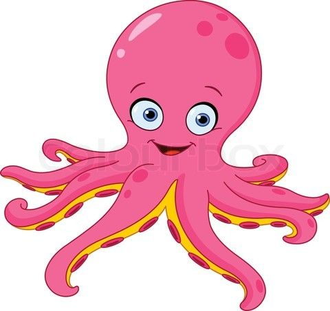 Cartoon octopus clipart picture free stock octopus cartoon | Stock vector of \'Cute octopus\' | Animals | Cute ... picture free stock