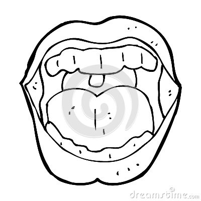 Cartoon open mouth black and white clipart jpg freeuse stock Open Mouth Black And White Clipart throughout Open Mouth Clipart ... jpg freeuse stock