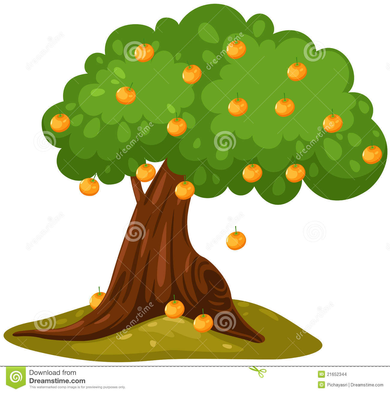 Orange Tree Clipart | Free download best Orange Tree Clipart on ... clip art black and white download