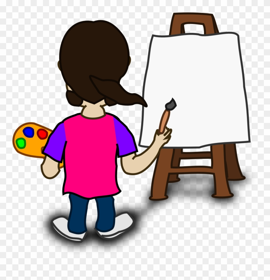 Cartoon painting clipart banner royalty free stock Banner Transparent Board Clipart Painter - Cartoon Image Of Painting ... banner royalty free stock