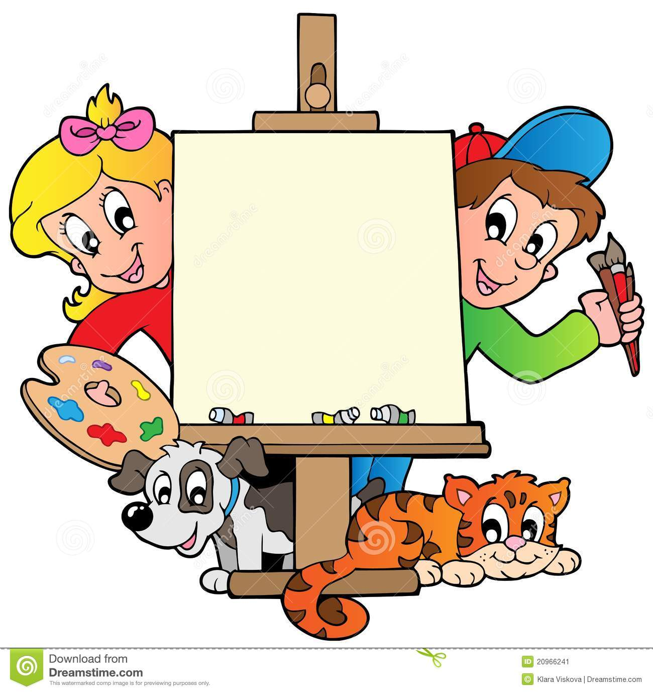 Cartoon painting clipart image free stock Kid Paint Clipart Cartoon kids | Clipart Panda - Free Clipart Images image free stock