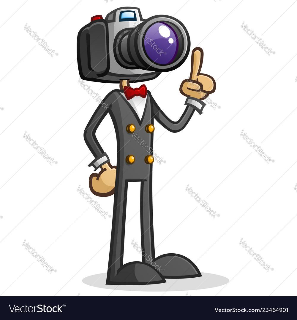 Cartoon papapparzi clipart jpg library stock Camera head paparazzi cartoon character jpg library stock