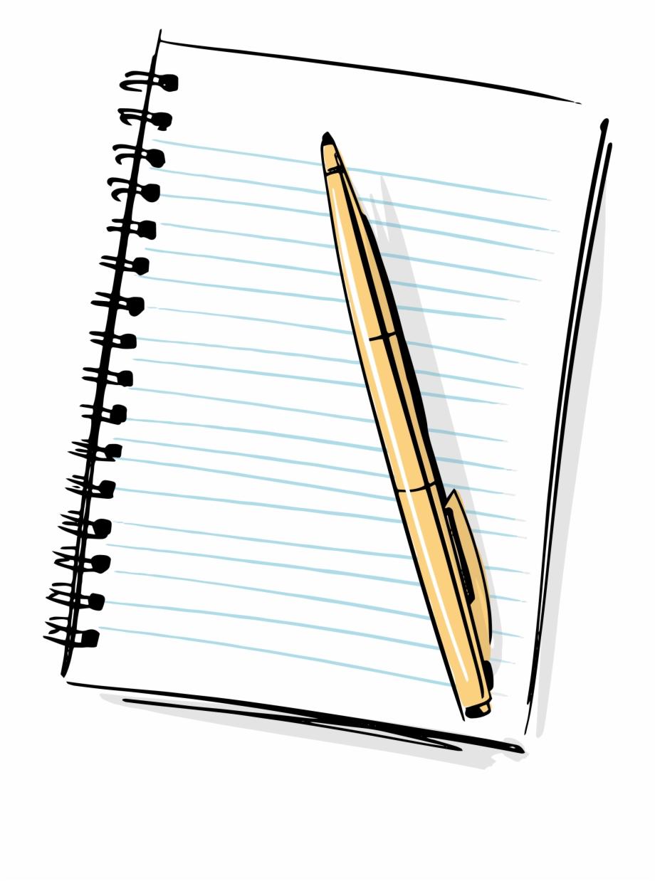 Cartoon paper clipart png transparent download Cartoon Pencil And Paper - Cartoon Notebook And Pencil Free PNG ... png transparent download