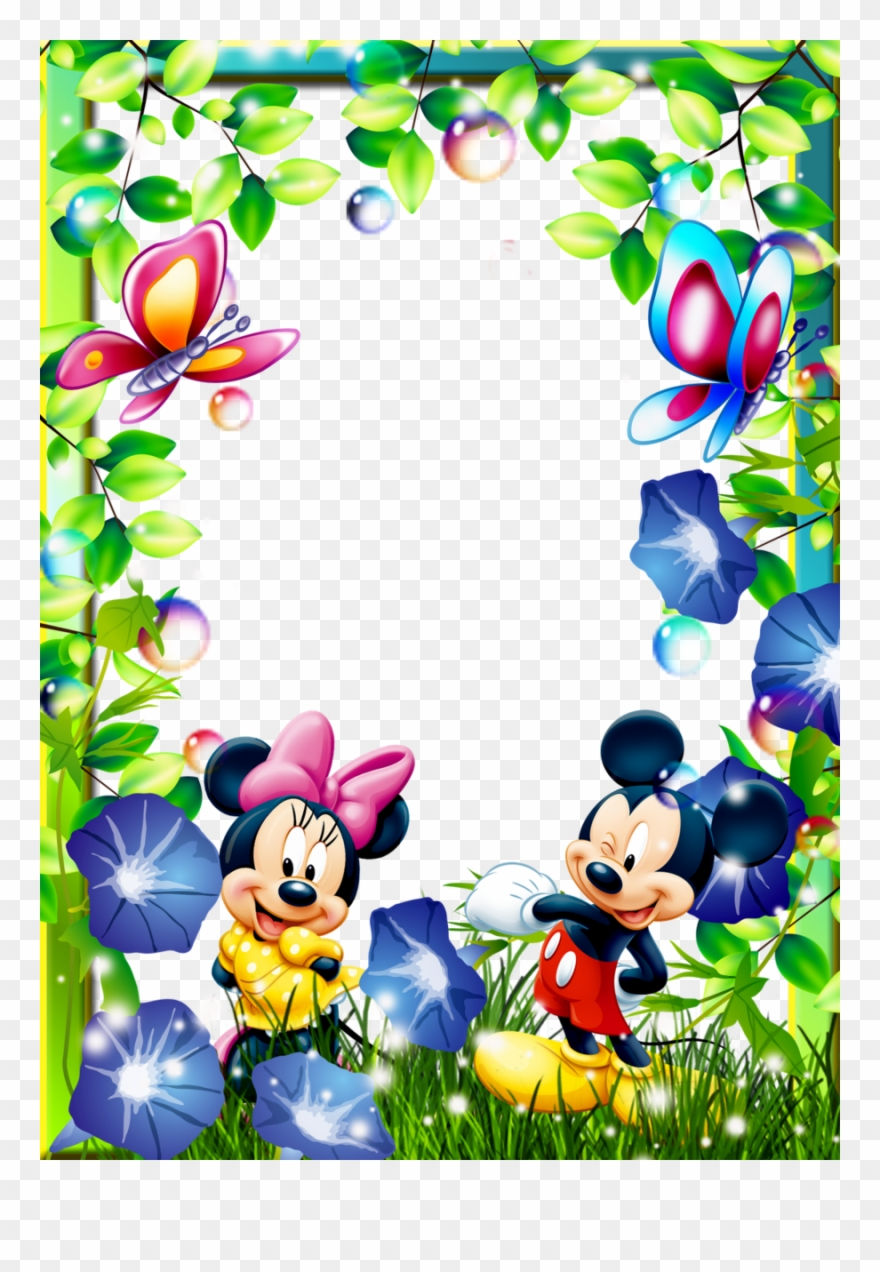 Cartoon photo frame clipart svg free stock Cartoon Characters Frames Clipart Picture Frames Mickey - Mickey ... svg free stock