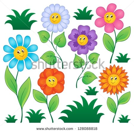 Cartoon picture of flowers clipart library download Cartoon images flowers - ClipartFest clipart library download