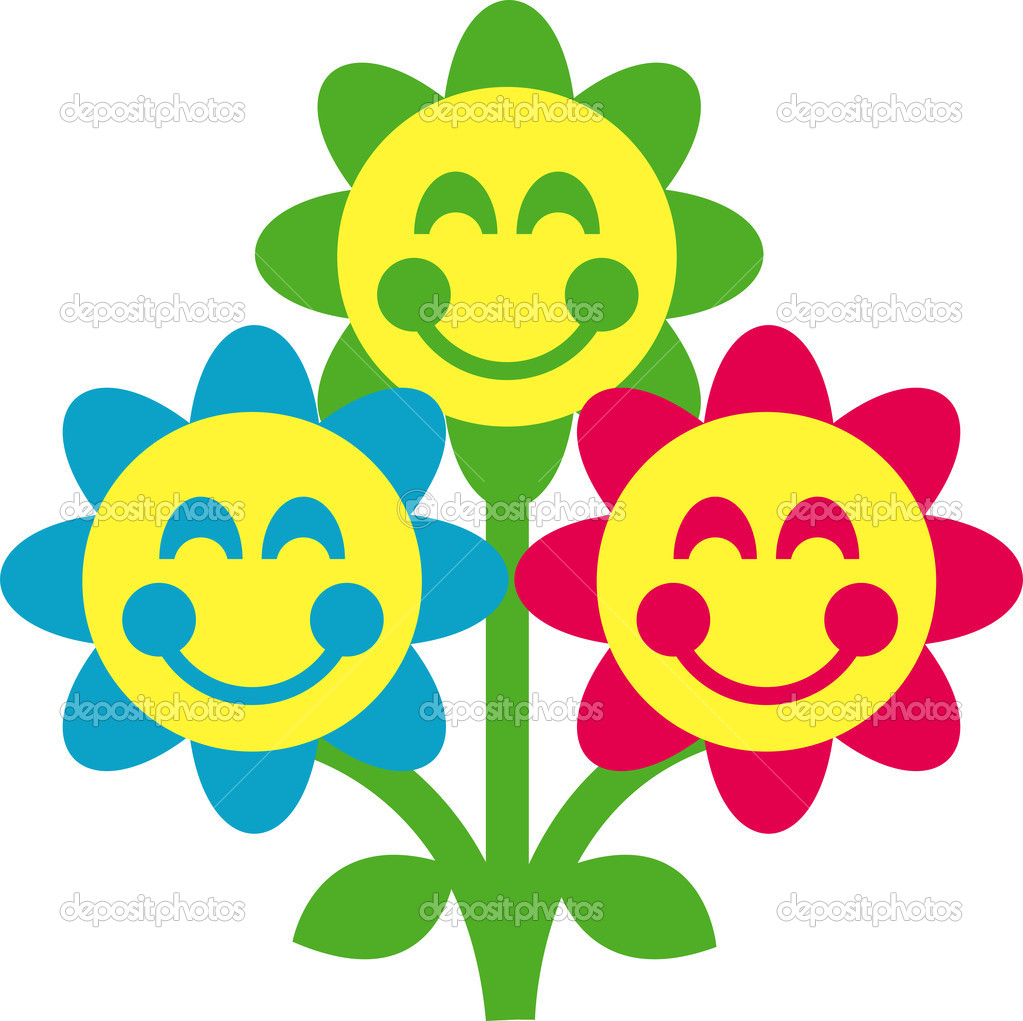 Cartoon picture of flowers jpg free stock Cartoon flowers — Stock Vector © ClipArtGuy #17254023 jpg free stock