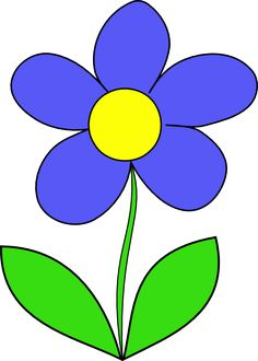 Cartoon picture of flowers image transparent download Cartoon Flowers Clip Art | Purple Flower Outline clip art - vector ... image transparent download