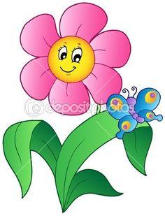 Cartoon picture of flowers jpg royalty free download Cartoon Flowers Clip Art | Flower Garden | Stock Vector © Basheera ... jpg royalty free download