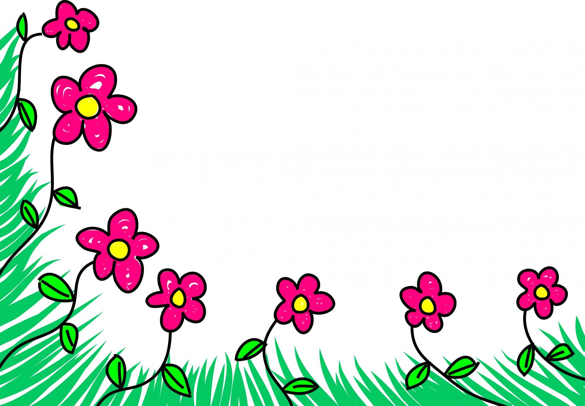 Cartoon picture of flowers clip art transparent stock Cartoon Flowers Free Stock Photo - Public Domain Pictures clip art transparent stock