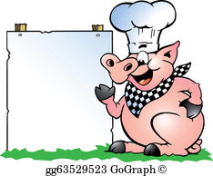 Cartoon pig roast clipart png library download Pig Roast Clip Art - Royalty Free - GoGraph png library download