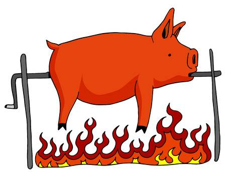 Free pig roast pictures clipart image library download Pig, Barbecue, Illustration, Orange, Graphics, Font png clipart free ... image library download