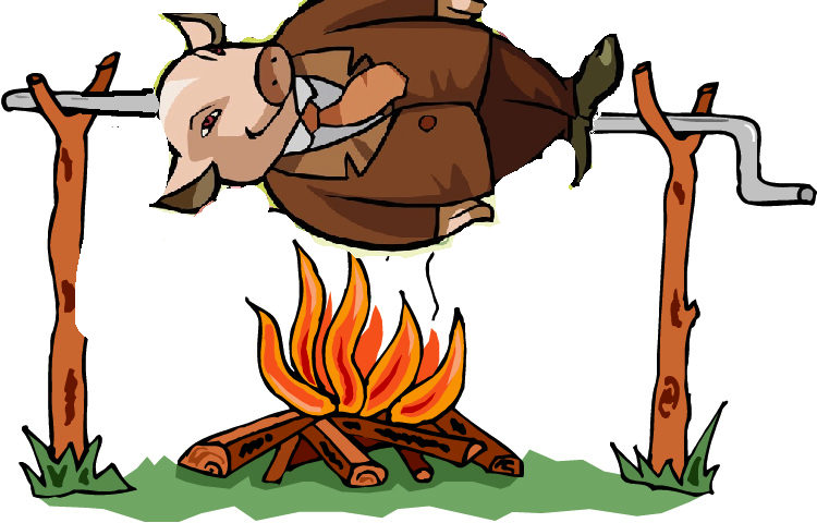 Cartoon pig roast clipart vector royalty free download Free Pig Roast Clipart, Download Free Clip Art, Free Clip Art on ... vector royalty free download