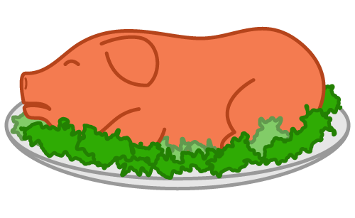 Free pig roast pictures clipart picture black and white Free Roast Pig Cartoon Picture, Download Free Clip Art, Free Clip ... picture black and white