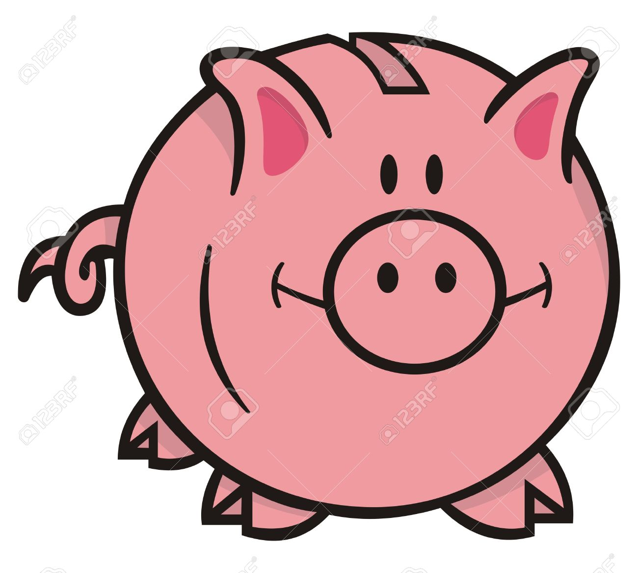 Cartoon piggy bank clipart svg royalty free stock Piggy Bank Clipart No Background Clip art of Bank Clipart #5379 ... svg royalty free stock