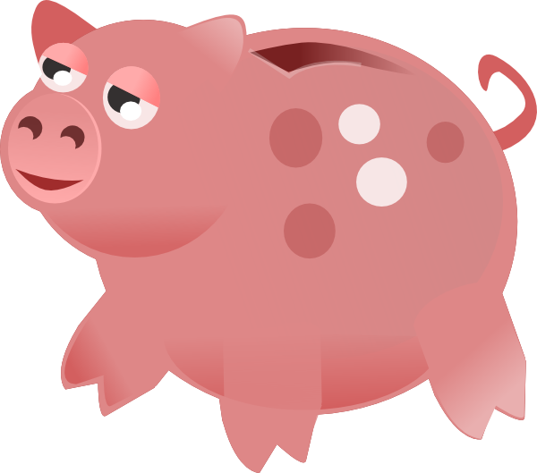 Cartoon piggy bank clipart image transparent stock Best Piggy Bank Clip Art #6379 - Clipartion.com image transparent stock