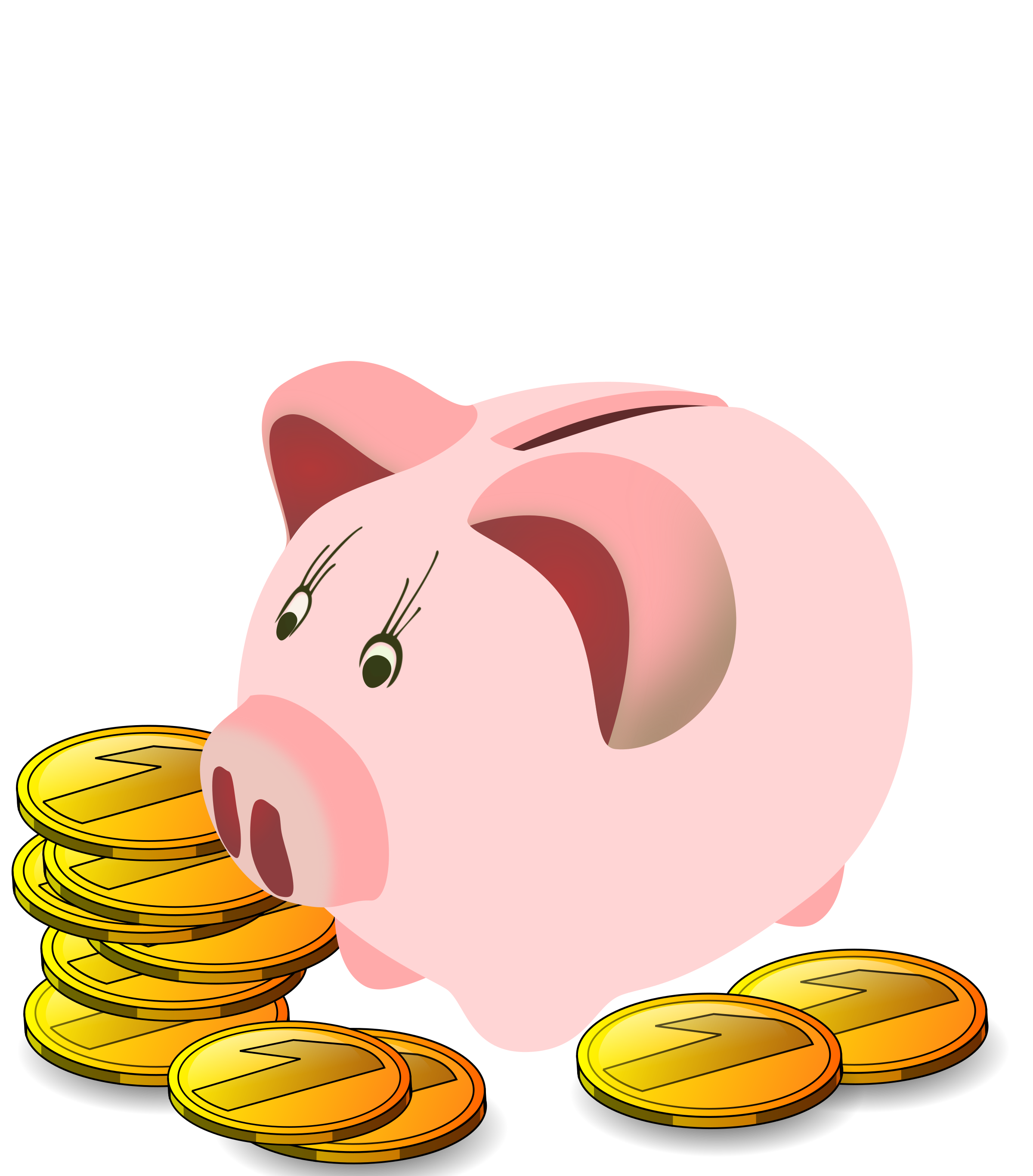 Clipart piggy bank graphic royalty free download Clipart - Piggy Bank graphic royalty free download