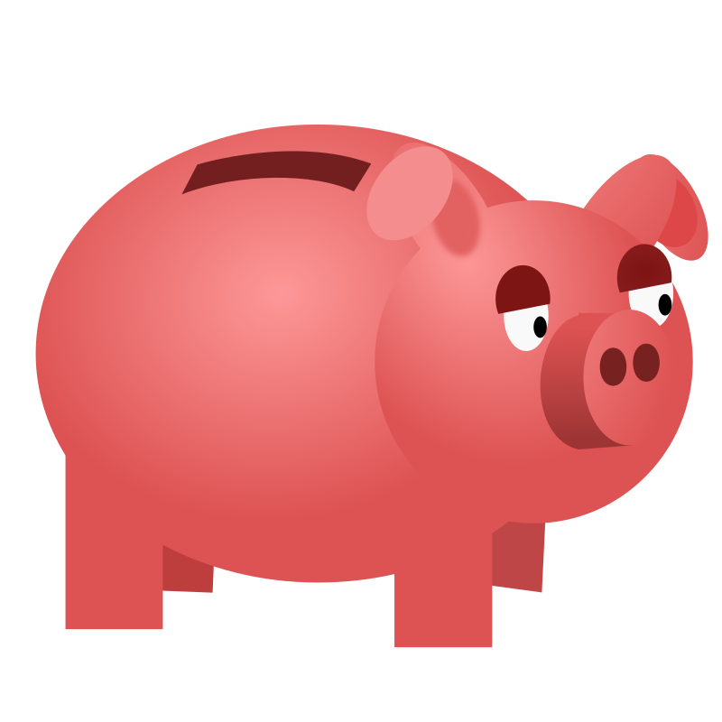 Cartoon piggy bank clipart picture free stock Piggy Bank Clipart - Clipart Kid picture free stock