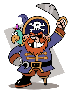 Cartoon pirates clipart vector free stock Pirate Clip Art Free | Clipart Panda - Free Clipart Images vector free stock