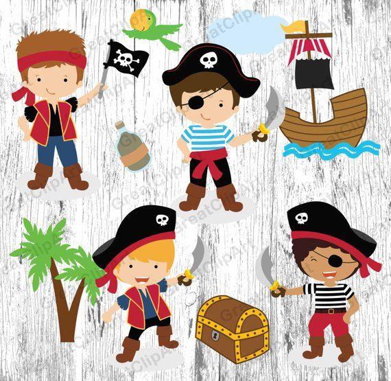 Cartoon pirates clipart