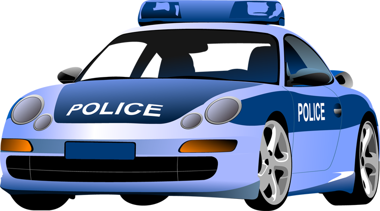 Blue clipart car clipart black and white stock Cartoon police car free clipart - ClipartFox clipart black and white stock