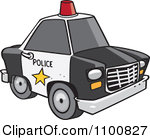 Royalty-Free (RF) Clipart Illustration of a Police Car by leonid ... svg freeuse