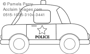 Clip Art Image of a Cartoon Police Car - Acclaim Stock Photography jpg download
