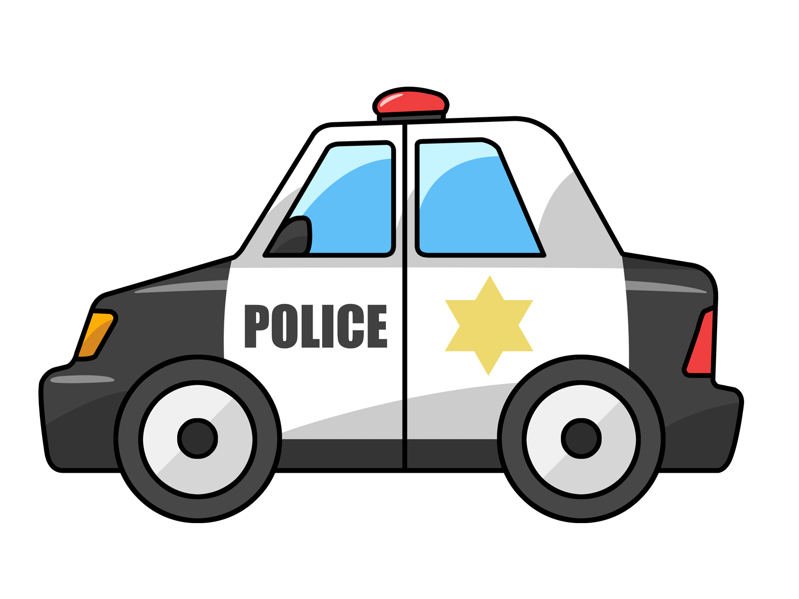 Police car kids clipart clipart black and white library Free to Use & Public Domain Police Car Clip Art - ClipArt Best ... clipart black and white library